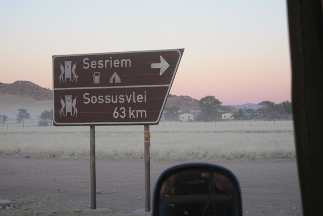 Sessriem Road Sign